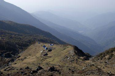 Trektocht Lamjung Himal Basiskamp Nepal | Snow Leopard - husslage 2009 (173) kamp