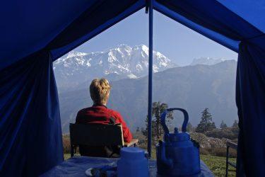 Trektocht Lamjung Himal Basiskamp Nepal | Snow Leopard - husslage 2009 (199) kamp