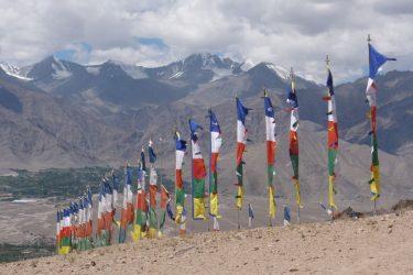 Expeditie Kang Yatse II (6250m) gebedsvlaggen